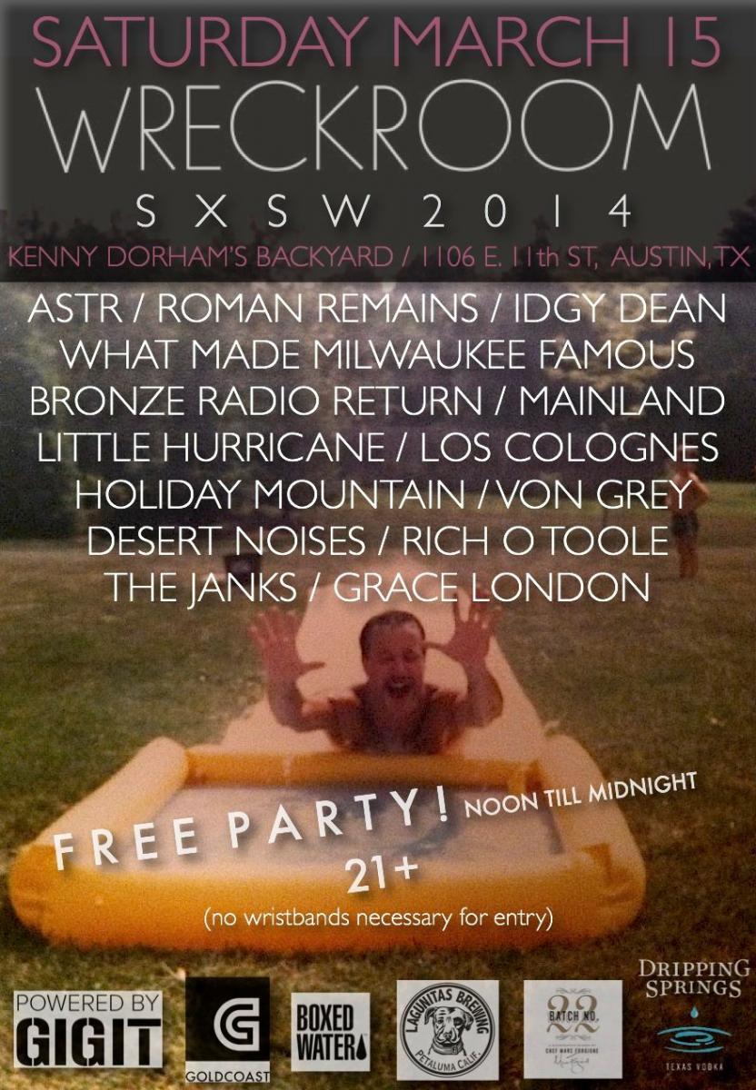 SXSW 2014 Wreckroom Event