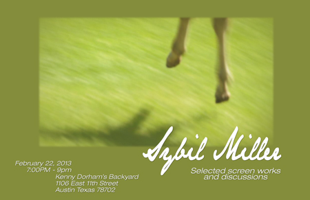 Sybil Miller Exhibit  2.22.2013