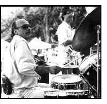 The drummer gets some props at the 1996 Clarksville Festival